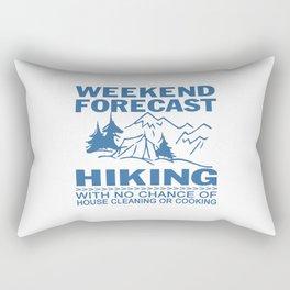 Weekend forecast hiking Rectangular Pillow
