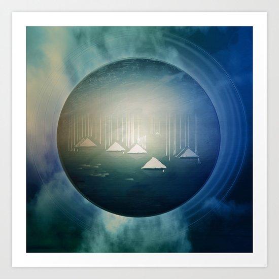 Communicate in Blue / Archipelago 27-01-17 Art Print