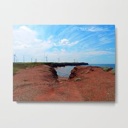 North Cape Wind Park and Cliff Metal Print