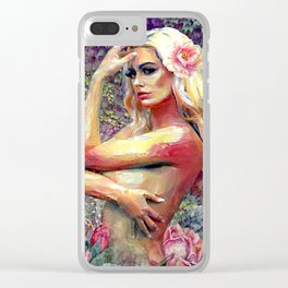 BREATHE IN HER BEAUTY Clear iPhone Case