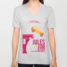 Jules et Jim, François Truffaut, minimal movie Poster, Jeanne Moreau, french film, nouvelle vague Unisex V-Neck