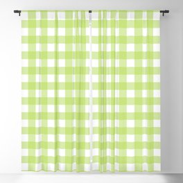 Green gingham pattern Blackout Curtain