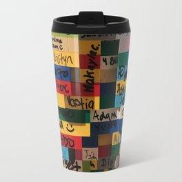Graffiti on Legos Travel Mug