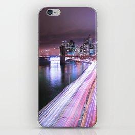 City Lights Highway iPhone Skin