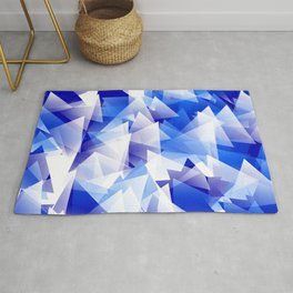 triangles in shades of blue Rug