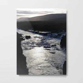 Waterfall at sundown Metal Print