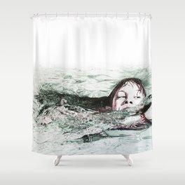 Go Swimming Shower Curtain