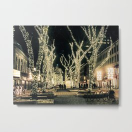 Faneuil Hall in Boston at Christmas Metal Print