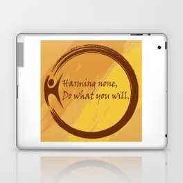 Harming None Do What You Will Color Background Laptop & iPad Skin