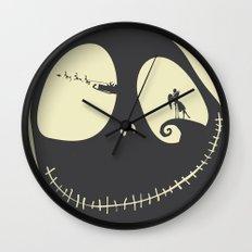No712 My The Nightmare Before Christmas minimal movie poster Wall Clock