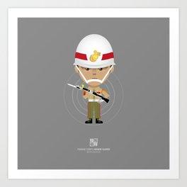 Honor Guard - ZQ Drill Art Print