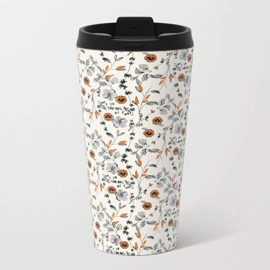 Floral pattern Flowers Metal Travel Mug