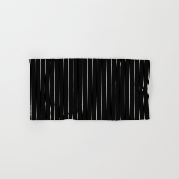 Black White Pinstripes Minimalist Hand & Bath Towel