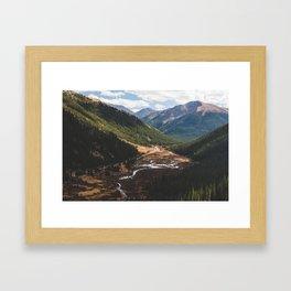 Climbing Independence Pass Framed Art Print