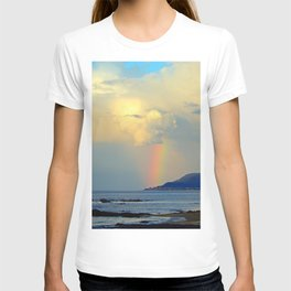 Storm Drops a Rainbow onto Village T-shirt