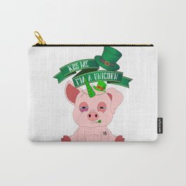 St Patrick's Day Kiss Me I'm A Unicorn Pig Carry-All Pouch