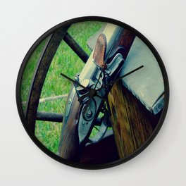 Old Muzzleloader  Wall Clock