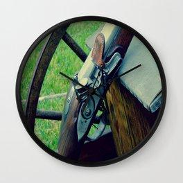 Old Muzzleloader  Wall Clock