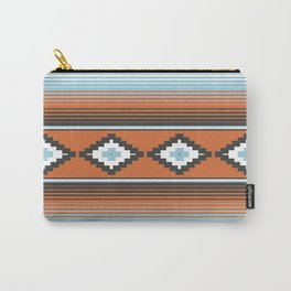 Modern Mexican Serape in Technicolor Carry-All Pouch