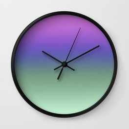 Lilac and Green Ombre Wall Clock