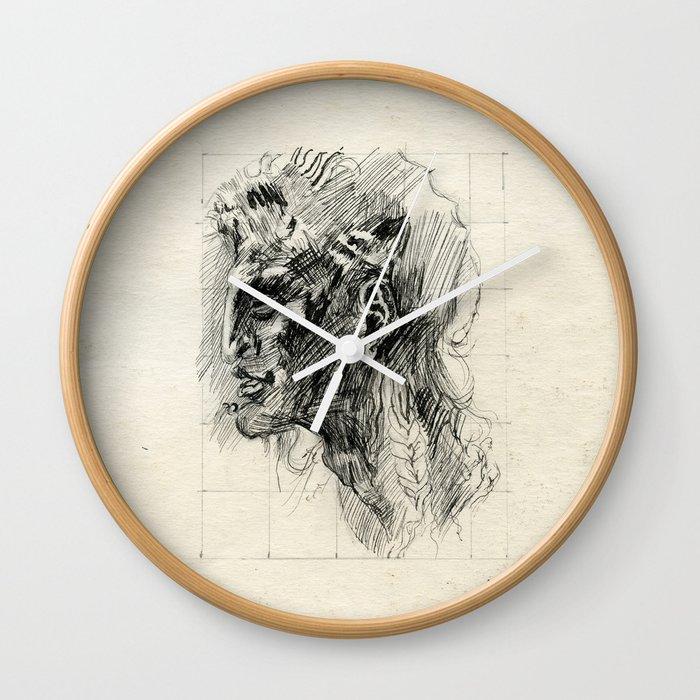 Head of satyr Wall Clock