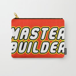 MASTER BUILDER in Brick Font Logo Design by Chillee Wilson Carry-All Pouch