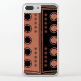 """Tribal Rosewood Stars"" Clear iPhone Case"