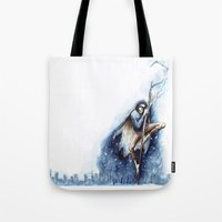 jack frost Tote Bags featuring Jack Frost by Ines92