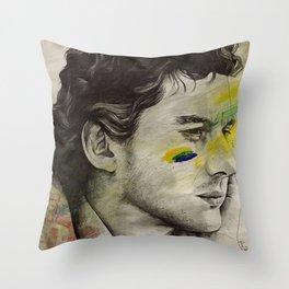 Rei Do Brasil: Tribute to Ayrton Senna da Silva Throw Pillow