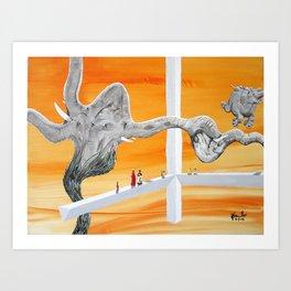 Pachyderm Cannibalism Art Print
