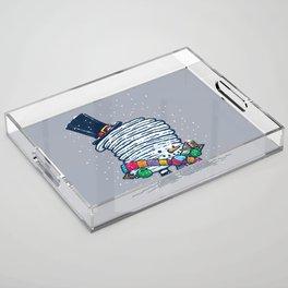 Captain Snowcake Acrylic Tray