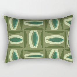 Alcedo - Green Rectangular Pillow