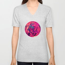 Triangle Abstraction Unisex V-Neck