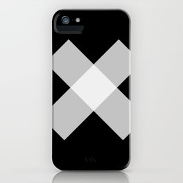 X - Black and White Art - Abstract iPhone Case