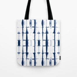 Shibori Stripes 4 Indigo Blue Tote Bag