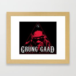 "Bounty Killer aka ""Grung Gaad"" Framed Art Print"