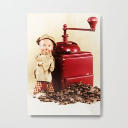 Coffee man 3 Metal Print