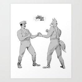 Old Timey Smash Bros Art Print