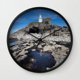 Bob's Cave at Mumbles Lighthouse Wall Clock