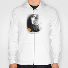 Silver Cat and Moon Hoody