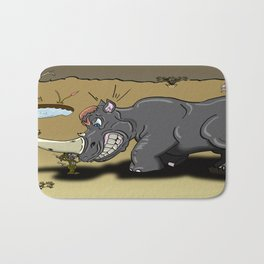 Rhino and mouse Bath Mat