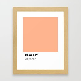 Peachy - Color Swatch Collection Framed Art Print