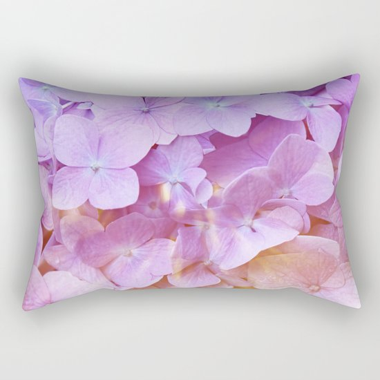 Multicolor beautiful Hydrangea petals - Flowers - Buds - Blossoms Rectangular Pillow
