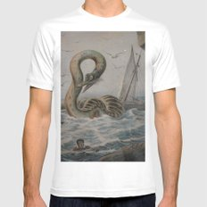 Creatures of the Deep Mens Fitted Tee MEDIUM White