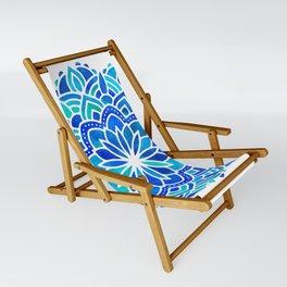 Mandala Iridescent Blue Green Sling Chair