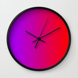 Purple To Red Gradients Wall Clock