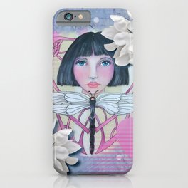 Girl with Dragonfly iPhone Case