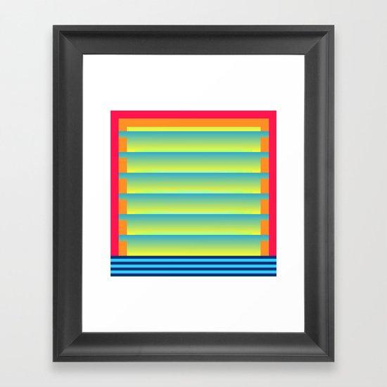 Gradient Fades v.2 Framed Art Print