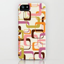 Mid Century Mod Shapes iPhone Case