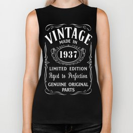 80th-Birthday-Gift-Idea-T-Shirt-Vintage-Made-In-1937 Biker Tank